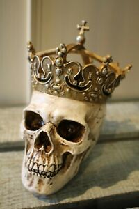 Katherine-S-Collection-Halloween-Skull-King-Crown-18cm-Gothic-New