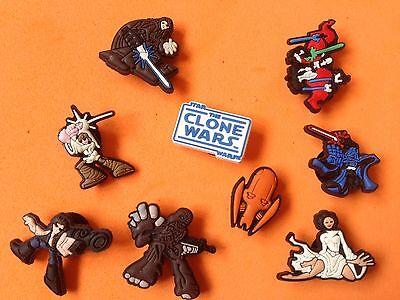 Star Wars Clone Wars encantos del zapato Jibbitz Para Crocs jaleas Skywalker Solo Leia