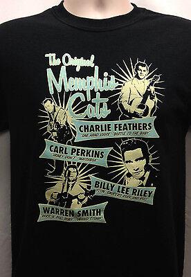 Original Memphis cats T Shirt Carl Perkins Charlie Feathers Warren Smith Sun