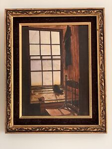 """Vintage Original Oil On Canvas Painting """"Ghost Town"""" Signed W. Montgomery 1977"""