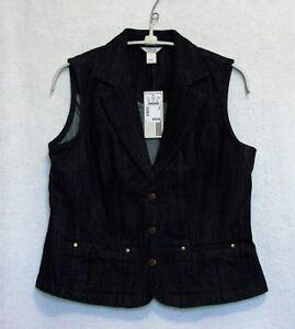 Christopher-amp-Banks-New-Size-S-Bust-34-35-034-Sleeveless-Dark-Denim-Vest
