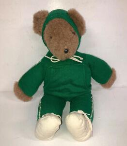 Running-Bear-Vintage-North-American-Barbara-Isenberg-1979-Green-Plush-USA