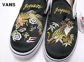 44263c057c82e8 JP Rare Slip-On SKAJUM VANS x ROLLICKING TIGER   DRAGON US 9 Shoes ...