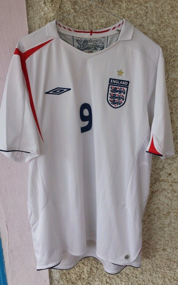 Maglia Shirt England Rooney L umbro number 9 Manchester Everdeon player