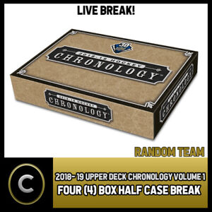 2018-19-UPPER-DECK-CHRONOLOGY-VOL-1-4-BOX-HALF-CASE-BREAK-H375-RANDOM-TEAMS
