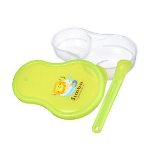 Baby Green BPA Free Portable Food Grinder Storage Case + Feeding Spoon Set