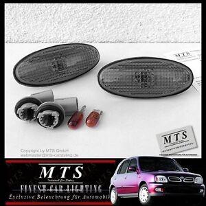SCHWARZE-Seitenblinker-Nissan-Micra-K11-Almera-N16-Tino-V10-100NX-B13-200SX-S14