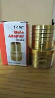 1-1/4 -- Male Adapter Brass Lowe's Part No. 89464 A117