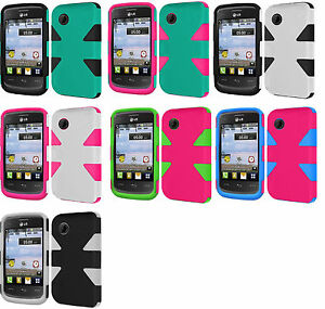 reputable site f4987 7510c Details about Dynamic Hybrid Case Phone Cover Accessory for TRACFONE LG  306G LG306G