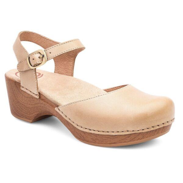 c89a133462 Women s Dansko Sam Closed Toe Sandal 40 M Sand Dollar Soft Full Grain  Leather