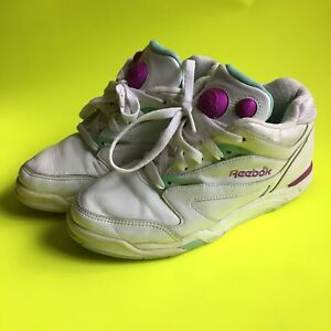 Vintage 90s Reebok Pump AS IS White Pink Green Hexalite Womens Size ... 16ca627d4