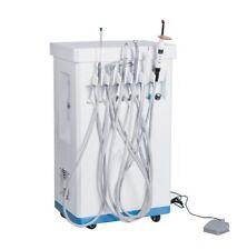 110v220v Portable Dental Delivery Cart Unit Equipment Compressor 3 Way Syringe