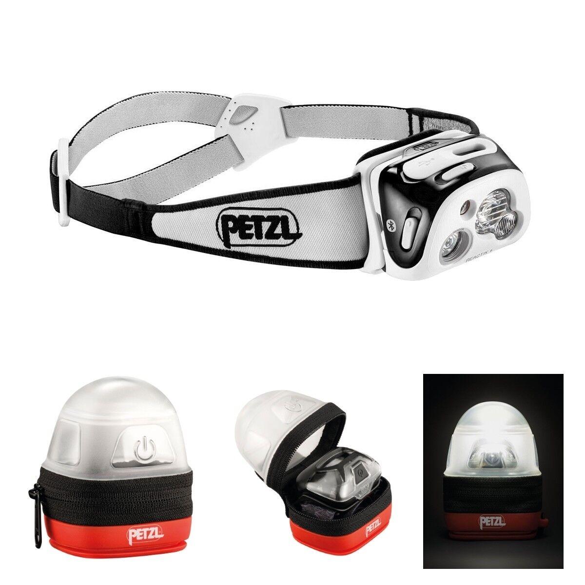 Petzl reactik + frente lámpara-negro-Max. 300 lumen incl. Petzl noctilight estuche