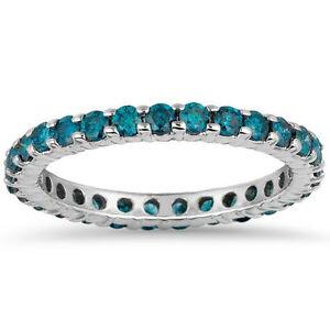 Treated Blue Diamond Eternity Ring