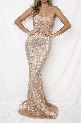 NEW TIGERMIST RARE GOLD SEQUIN STRAPLESS FORMAL EVENING DRESS 6 8 10 12 | eBay