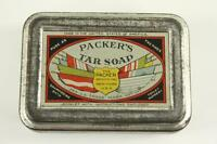 Vintage Advertising Metal Tin Can PACKER'S TAR SOAP Complete New York US
