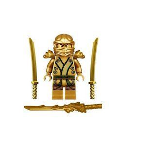 Worksheet. LEGO NINJAGO MINIFIGURE GOLD NINJA LLOYD DRAGON SHAMSHIR SWORDS