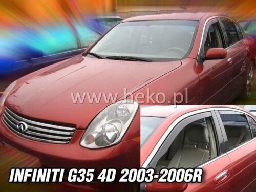 infiniti g-35 4 türig año 2003-2006 Heko 21507 derivabrisas 2 pzas
