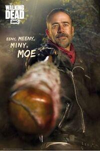 The Walking Dead Negan Eeny Meeny Miny Moe 24x36 Tv Poster