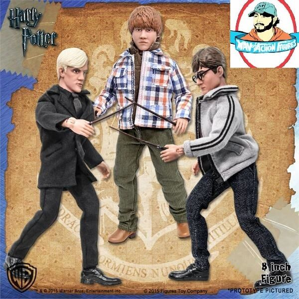 Harry Potter 8 Inch Action Figures Series 1 Set of all 3 Figures Toy