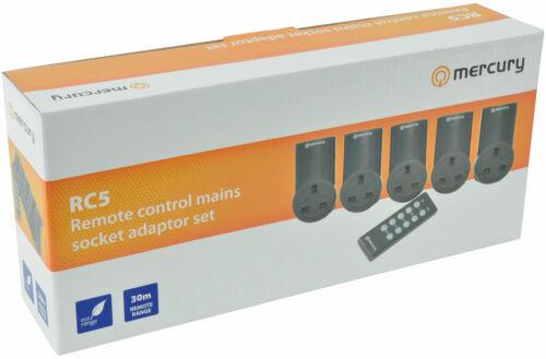 5 x télécommande secteur douilles sans fil plug-in adaptateur prise 240v adaptateur