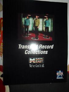 STAR TREK 25th ANNIVERSARY Data East Pinball Flyer NOS
