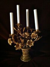 Antique French Louis XVI Style Gilt Bronze 4-light Candelabra