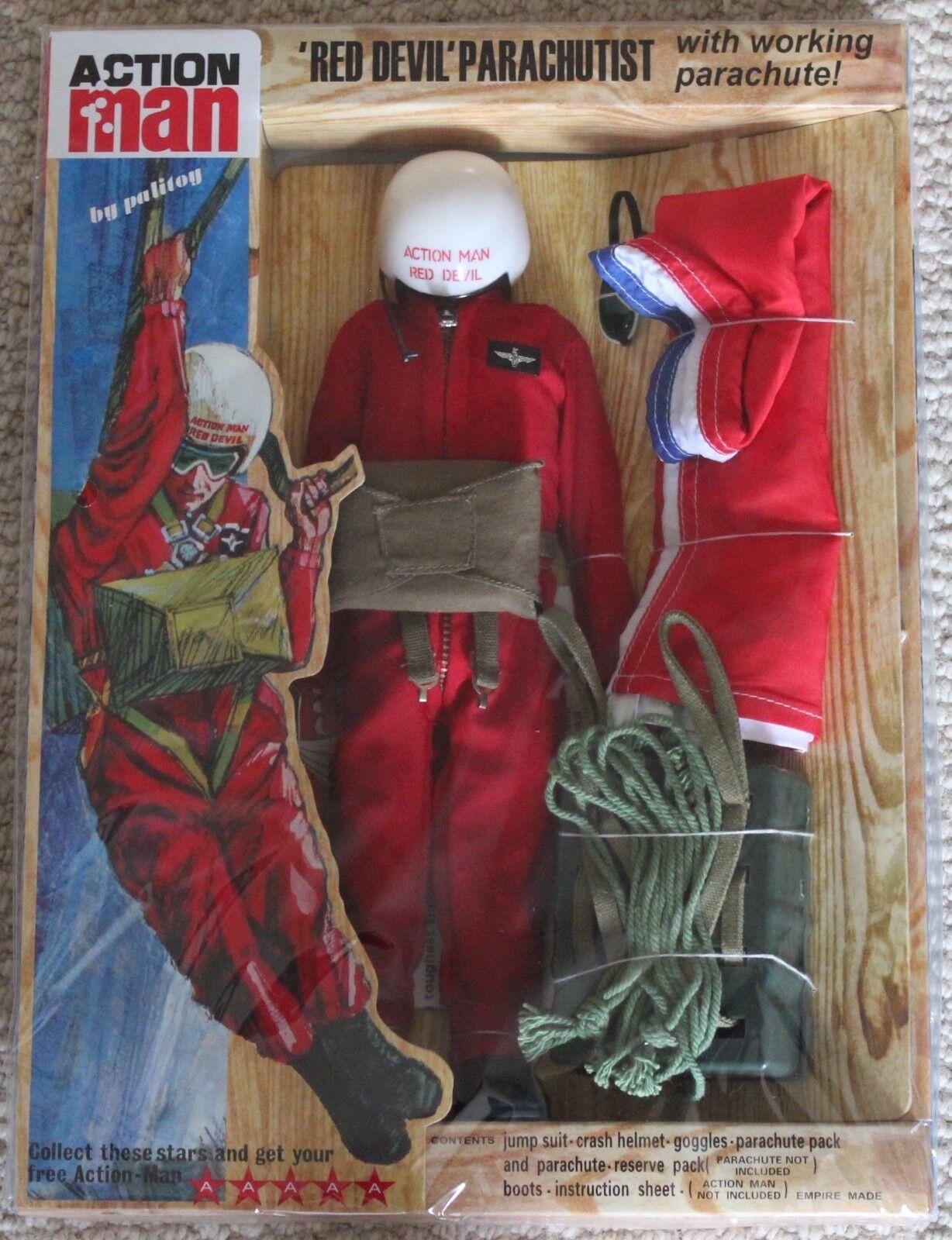 costo real Vintage Acción Man 40th aniversario en caja caja caja de tarjeta de diablo rojo  venderse como panqueques
