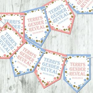 Personalised-Gender-Reveal-Boy-Girl-Bunting-Baby-Shower-Decoration-Glitter