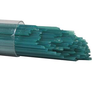 Peacock Green Opal Oceanside Glass Stringers 96 COE