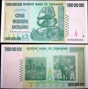 Image Is Loading Zimbabwe 1 Billion Dollars 2008 P 83 World