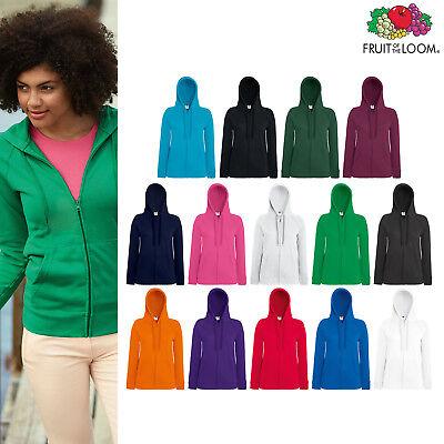 Fruit of The Loom Women's Lightweight Hooded Sweatshirt Jacket Zipped hoodie | eBay
