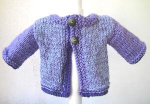 New Kss Handmade Purple Grape Swirl Baby Sweater 6 Months Sw 568