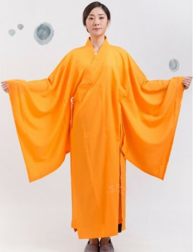 Kesa Monk Dress Zen Meditation Buddhist Priest Cassock Robe Shaolin Kung fu