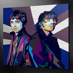 GRAFFITI LIAM NOEL GALLAGHER OASIS CANVAS WALL ART PICTURE PRINT READY TO HANG