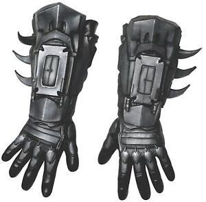 Rubie-039-s-Men-039-s-Arkham-City-Deluxe-Batman-Gloves-Black-As-Shown-Size-One-Size