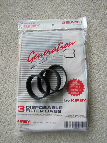 Kirby G3 G4 G5 G6 Sentria vacuum sweeper bags & 3 belts