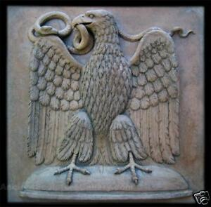 EAGLE PLAQUE Beautiful Highly Detailed Stone Garden Ornament Decor
