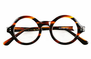 40mm-61mm-HANDMADE-Vintage-Round-Glasses-Tortoise-Eyeglass-Frame-Optical-Rx