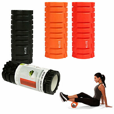 High Density Massage EVA Foam Roller Grid Deep Firm Tissue Leg Muscle Gym Yoga