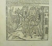 Original Antique Woodcut Leaf Livius Roman History Strassburg 1507 Incunabula