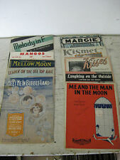 "Vintage sheet music Lot of 10,  ""Me And The Man In The Moon"" +9 more"