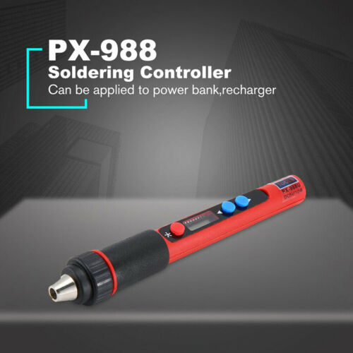 PX-988 USB Welding Repair LCD Tool Pen Electric Soldering Iron Touch Switch Tip