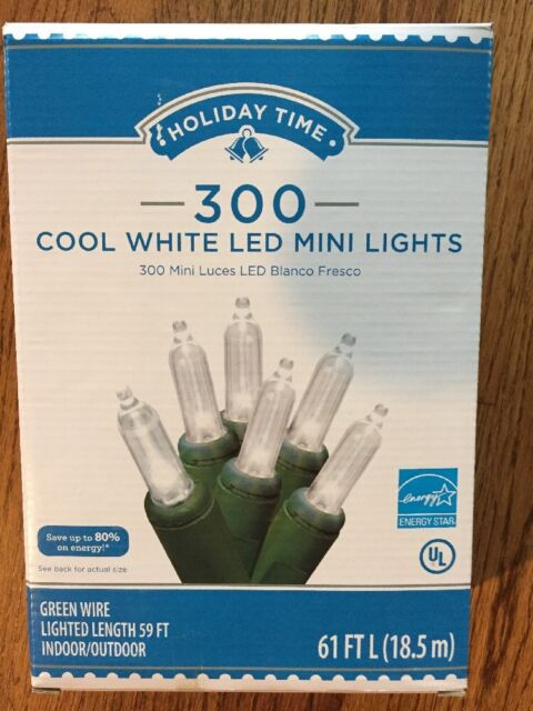 Lot of 4 New Holiday Time 300 Multi Color Mini Christmas Lights green Wire