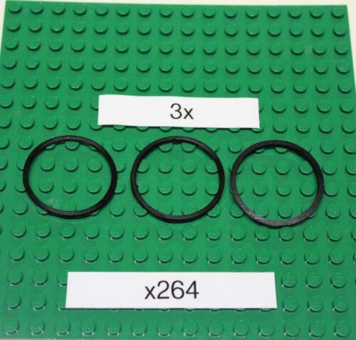 x264 Gummiringe für LEGO Technik 3 Stück Rubber Band-Schwarz