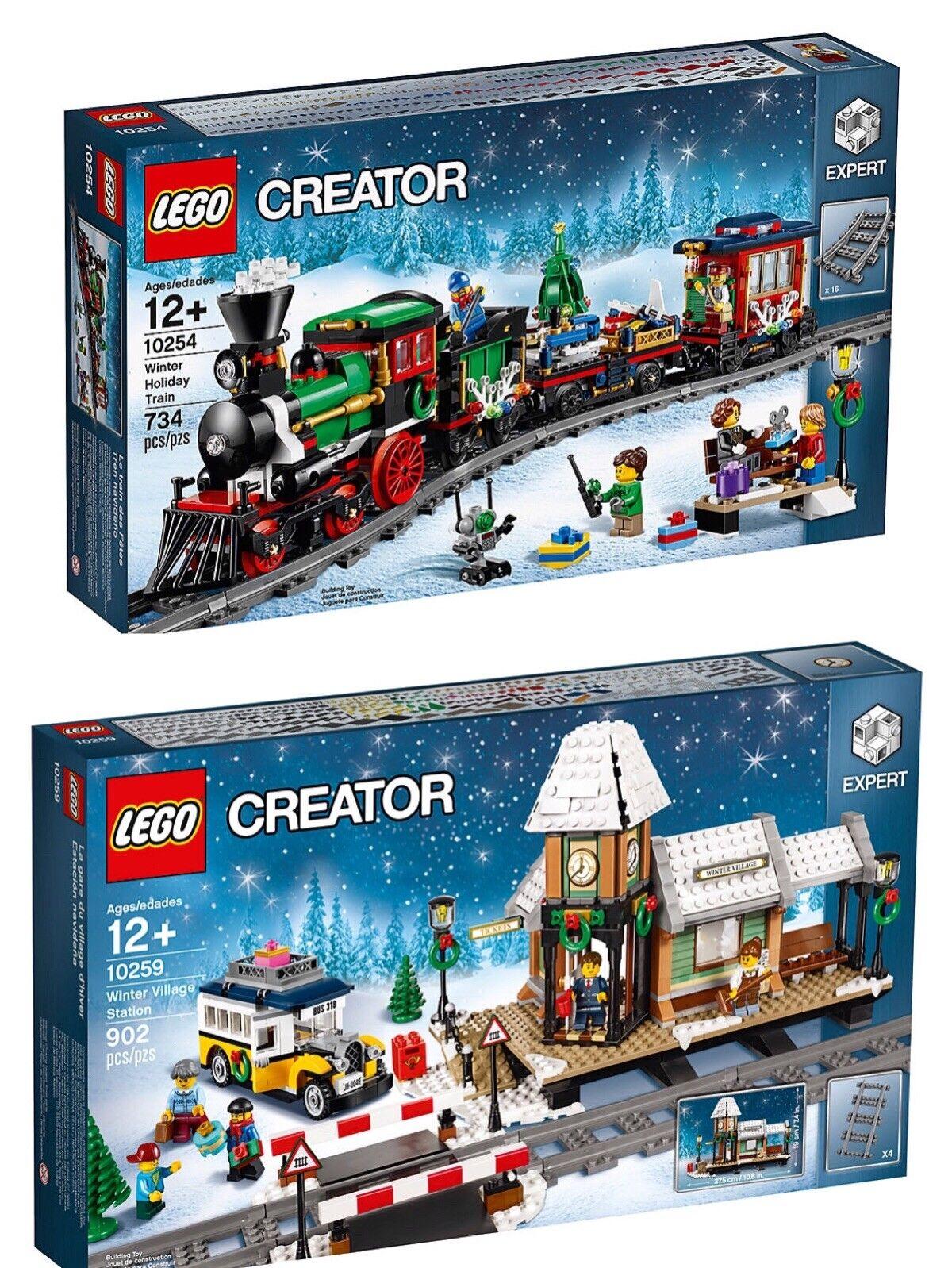 nouveau  LEGO Xmas Creator Sets  10254 Winter Holiday Train & 10259 Village Station  avec 60% de réduction