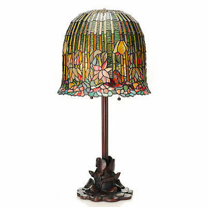 c0c6304cf73 River of Goods 29 Inch Tall Pond Lily Stained Glass Table Lamp for ...