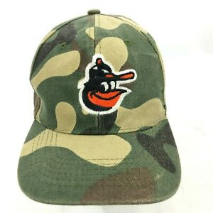 88f0ce27031 Image is loading BALTIMORE-ORIOLES-Hat-Camouflage -Embroidered-Strapback-Green-Multicolor