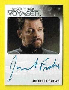 """2015 Star Trek Voyager Heroes & Villains Autograph Jonathan Frakes """"EL"""""""