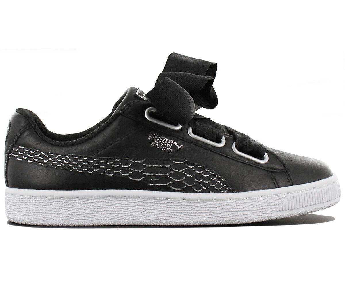 Puma Basket Heart Oceanaire cortos señora zapatos negro zapatillas de de de deporte 366443-01  el mas reciente